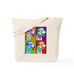 Greyhound dog art Tote Bag