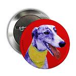 Greyhound dog art Button