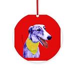 Greyhound dog art Keepsake (Round)