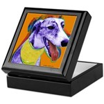 Greyhound dog Keepsake Box