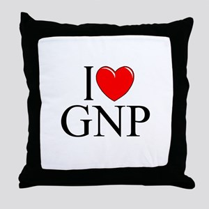 """I Love (Heart) GNP"" Throw Pillow"