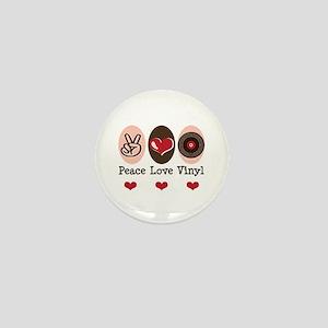 Peace Love Vinyl Record Mini Button