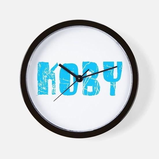 Koby Faded (Blue) Wall Clock