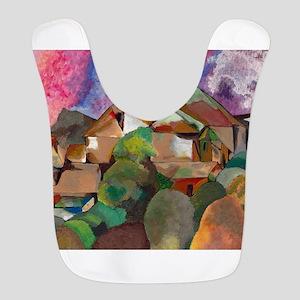 Expressionist - Cubist Artwork Polyester Baby Bib