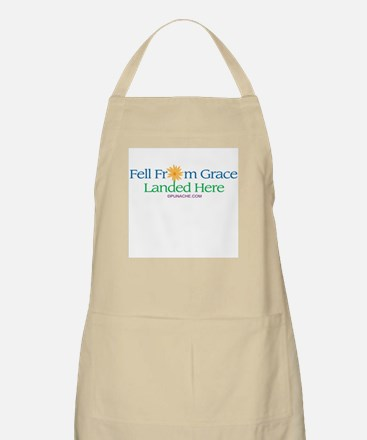 FELL FROM GRACE LANDED HERE BBQ Apron