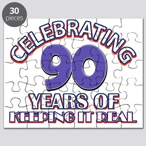 90 birthday design Puzzle