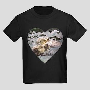Sea Otters Kids Dark T-Shirt