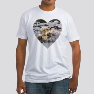 Sea Otters Fitted T-Shirt