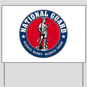 National Guard Logo Yard Sign