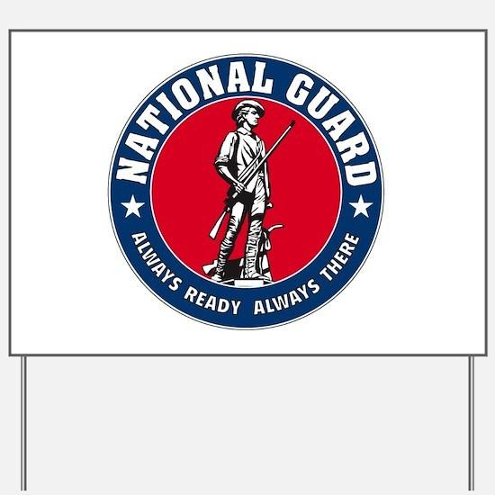 National Guard Logo Yard Sign