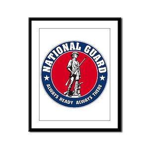 National Guard Logo Framed Panel Print