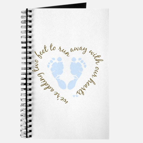 Adding Two Feet (blue) Journal