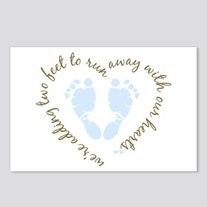 Adding Two Feet (blue) Postcards (Package of 8)
