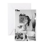 Tracy takes a bath Greeting Cards (Pk of 10)