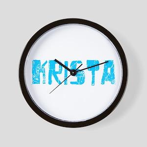 Krista Faded (Blue) Wall Clock