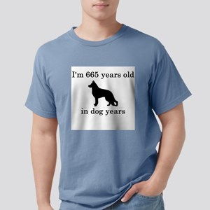 95 birthday dog years german shepherd black T-Shir