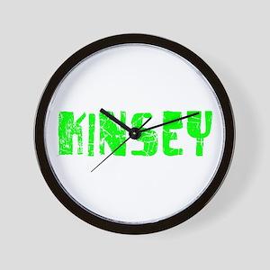 Kinsey Faded (Green) Wall Clock