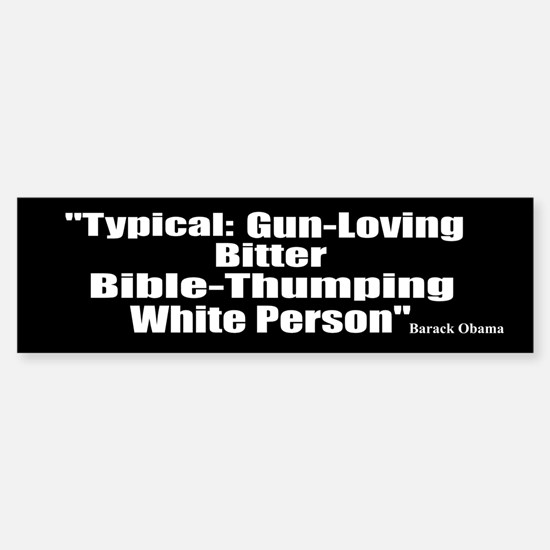 """""""Barack Obama Quote"""" Bumper Bumper Bumper Sticker"""
