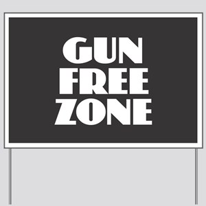 Gun Free Zone Yard Sign