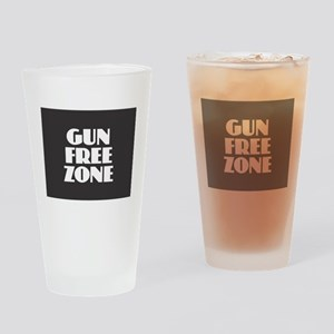 Gun Free Zone Drinking Glass