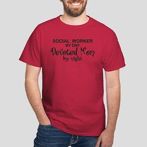 Social Worker Devoted Mom Dark T-Shirt