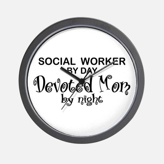 Social Worker Devoted Mom Wall Clock