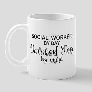 Social Worker Devoted Mom Mug