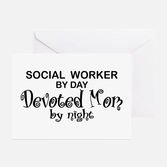 Social Worker Devoted Mom Greeting Cards (Pk of 10