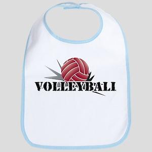 Volleyball starburst red Bib