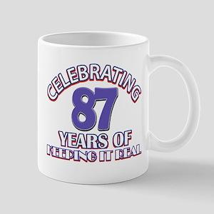 87 birthday design Mugs