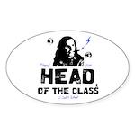 Head of the Class Oval Sticker