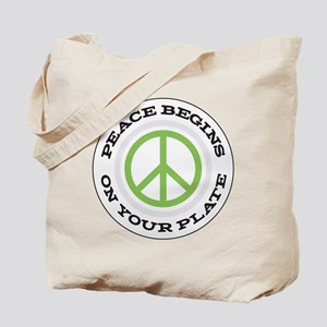 peace begins on your Tote Bag