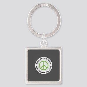 peace begins on your Square Keychain