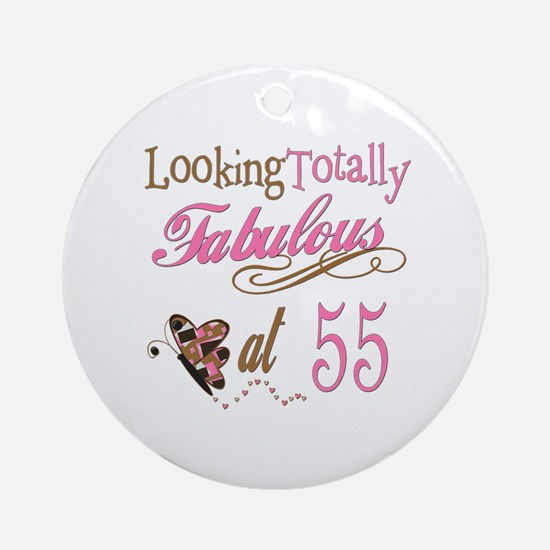 Fabulous 55th Ornament (Round)