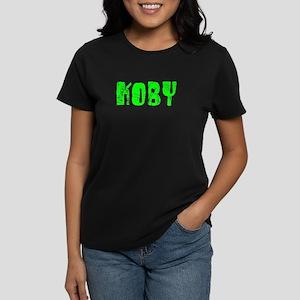 Koby Faded (Green) Women's Dark T-Shirt