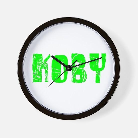 Koby Faded (Green) Wall Clock