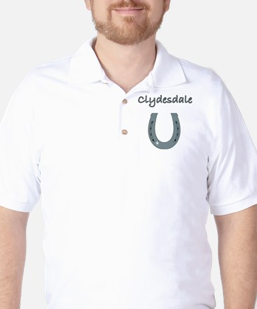 Clydesdale Horses Golf Shirt
