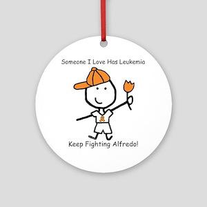 Leukemia - Alfredo Ornament (Round)