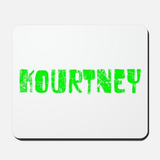 Kourtney Faded (Green) Mousepad