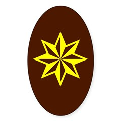 Yellow Guiding Star Oval Decal