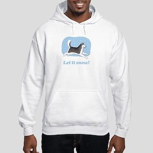 Siberian Husky Let it Snow Hooded Sweatshirt