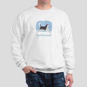 Siberian Husky Let it Snow Sweatshirt