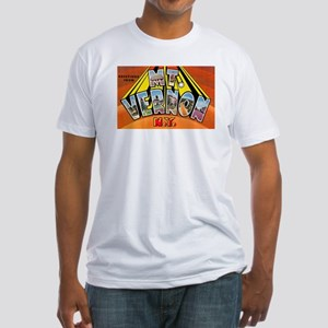 Mt. Vernon New York (Front) Fitted T-Shirt