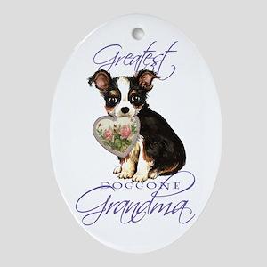 Chihuahua Grandma Oval Ornament