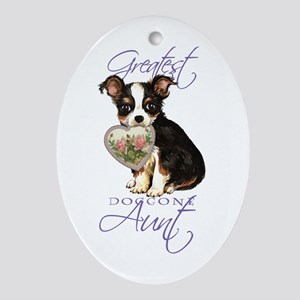 Chihuahua Aunt Oval Ornament