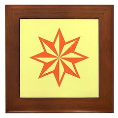 Orange Guiding Star Framed Tile