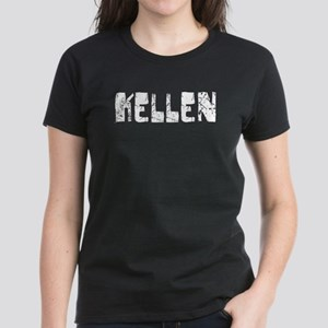 Kellen Faded (Silver) Women's Dark T-Shirt