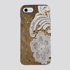 country burlap and lace iPhone 8/7 Tough Case