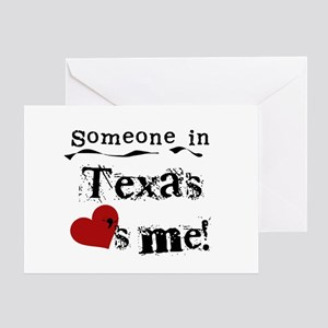 Somebody in texas loves me greeting cards cafepress someone in texas greeting card m4hsunfo