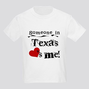 Someone in Texas Kids Light T-Shirt